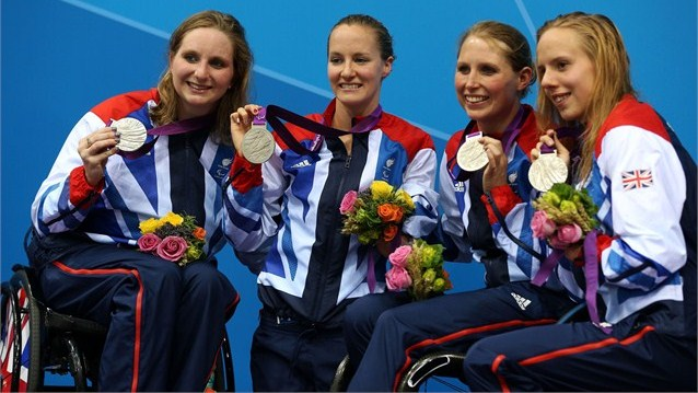 Thanks to a spectacular final leg by Louise Watkin in the 4x100 metres medley Britain were able to take home a silver medal.