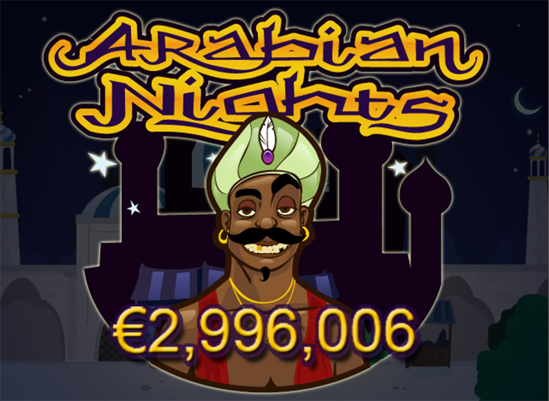 Arabian Nights Slots Jackpot About to Hit €3 Million